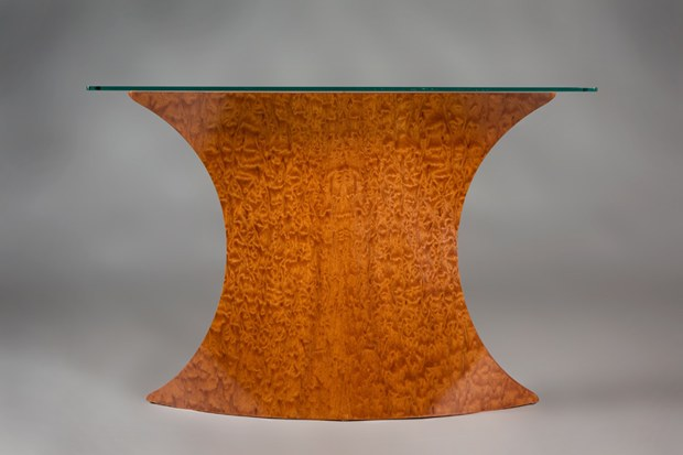 Pommele Sapele Hall Table