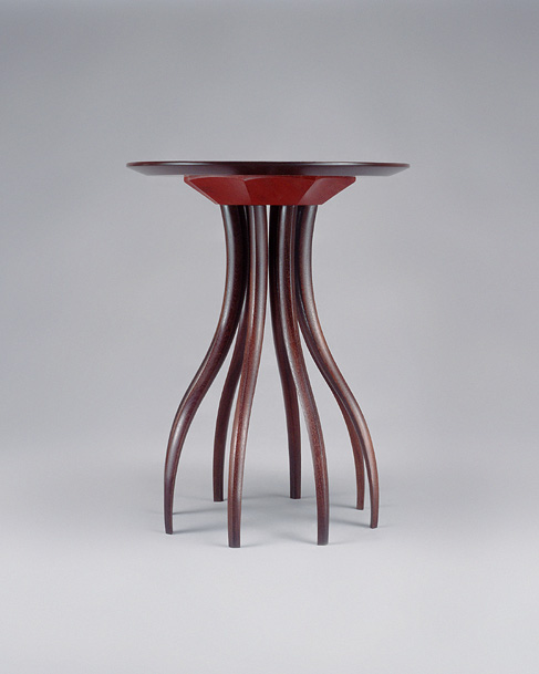Mahogany Table with Red Detail