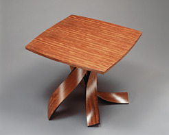 Bubinga Square Cocktail Table