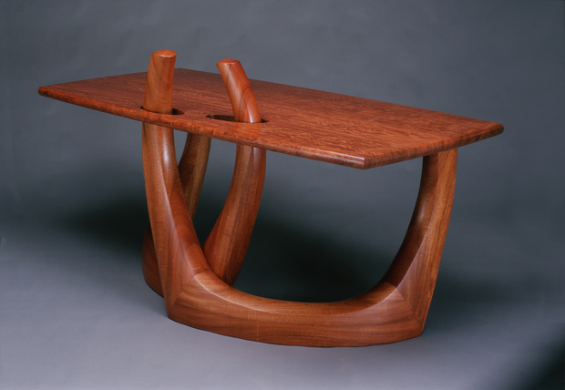 Bubinga and Mahogany Desk
