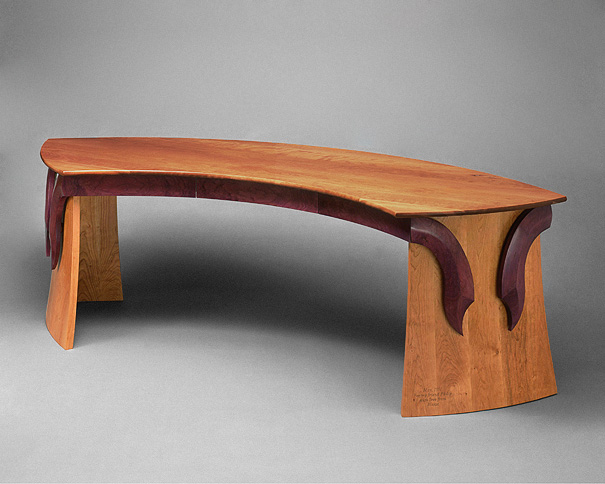 Curved Cherry Desk