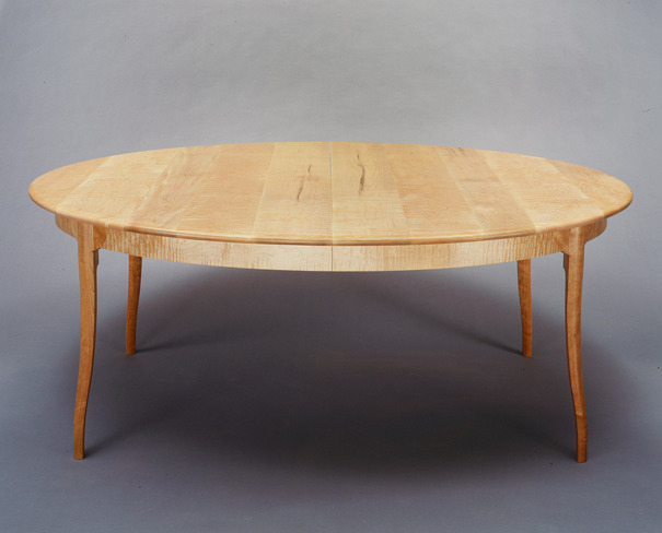 Curly Maple and Cherry Dining Table