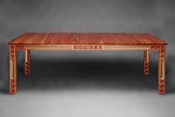 Striped Mahogany Dining Table